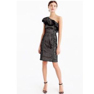 J. Crew Collection One-Shoulder Dress In Eyelet
